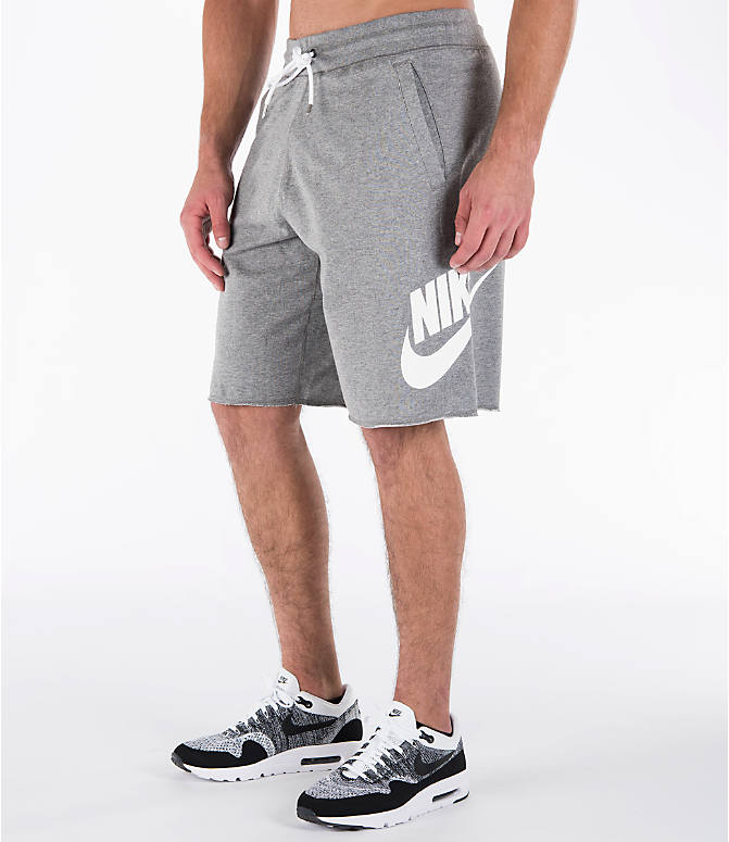 Front Three Quarter view of Men's Nike Sportswear GX Shorts in Carbon Heather