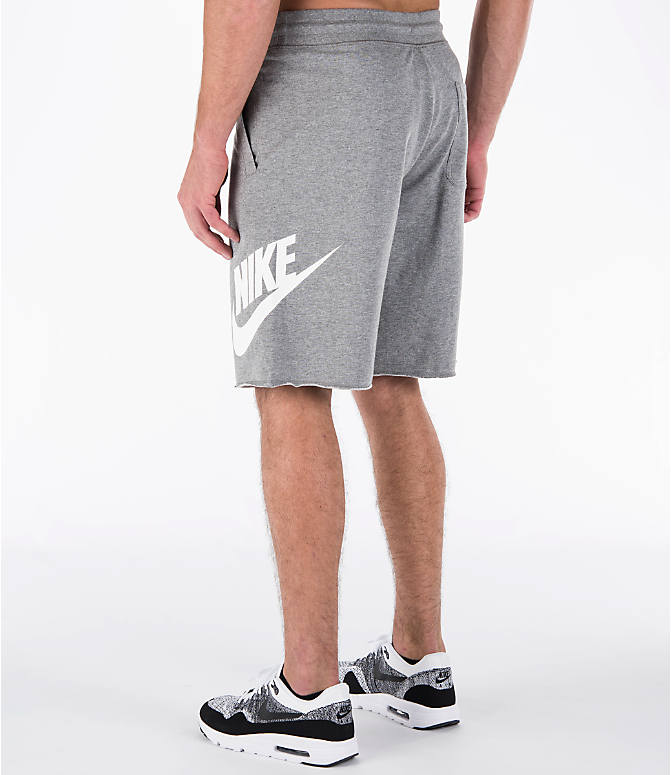 Back Left view of Men's Nike Sportswear GX Shorts in Carbon Heather