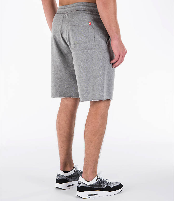 Back Right view of Men's Nike Sportswear GX Shorts in Carbon Heather