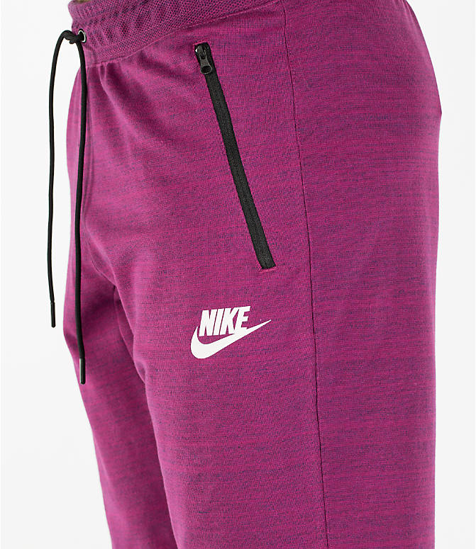Detail 1 view of Men's Nike Sportswear AV15 Knit Shorts in Berry