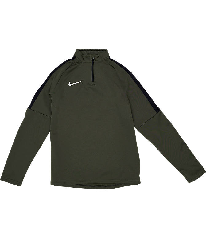 Front view of Boys' Nike Dri-FIT Academy Soccer Drill Quarter-Zip Training Shirt