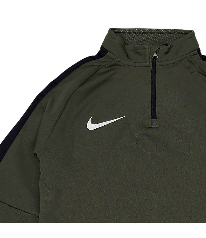 Back view of Boys' Nike Dri-FIT Academy Soccer Drill Quarter-Zip Training Shirt