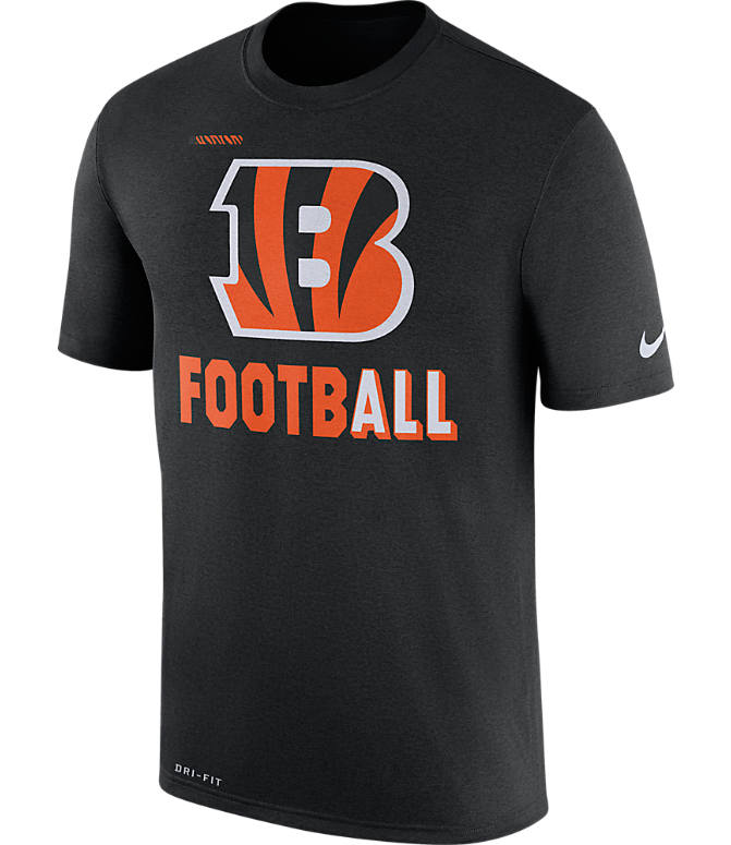 Front view of Men's Nike Cincinnati Bengals NFL Legend Onfield T-Shirt in Black