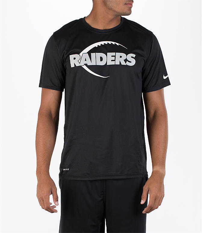 Front view of Men's Nike Oakland Raiders NFL Legend Icon T-Shirt in Black
