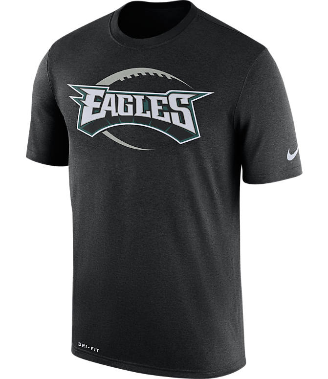 Front view of Men's Nike Philadelphia Eagles NFL Legend Icon T-Shirt in Black