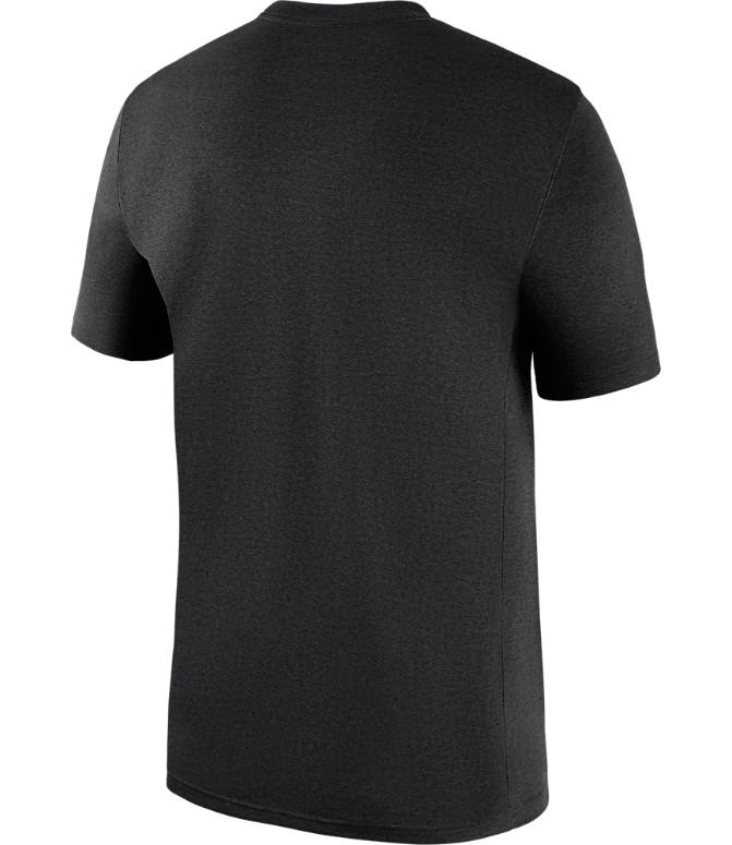 Back view of Men's Nike Pittsburgh Steelers NFL Legend Icon T-Shirt in Black
