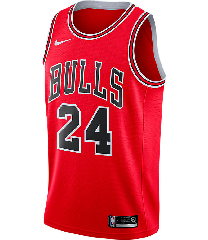 Back view of Men's Nike Chicago Bulls NBA Lauri Markkanen Icon Edition Connected Jersey in University Red