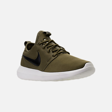 Three Quarter view of Men's Nike Roshe Two Casual Shoes in Iguana/Black/Sail/Volt