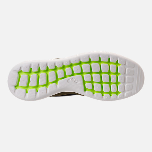 Bottom view of Men's Nike Roshe Two Casual Shoes in Iguana/Black/Sail/Volt