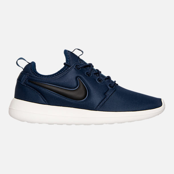 Right view of Men's Nike Roshe Two Casual Shoes in Midnight Navy/Black/Sail/Volt