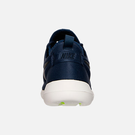Back view of Men's Nike Roshe Two Casual Shoes in Midnight Navy/Black/Sail/Volt