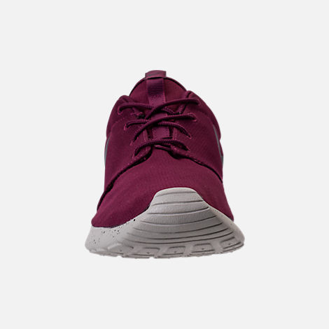 Front view of Men's Nike Roshe One SE Casual Shoes in  Bordeaux/Anthracite/Pale