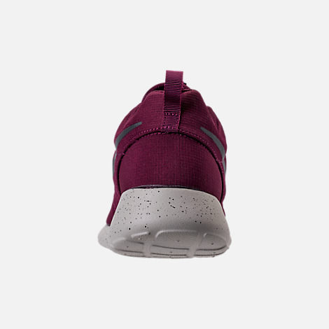 Back view of Men's Nike Roshe One SE Casual Shoes in Bordeaux/Anthracite/Pale Grey