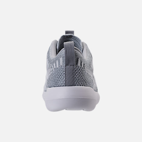 Back view of Women's Nike Roshe Two Flyknit Casual Shoes in Wolf Grey/White