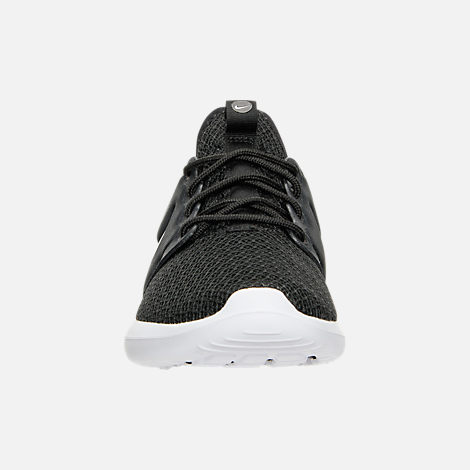 Front view of Women's Nike Roshe Two Casual Shoes in Black/White
