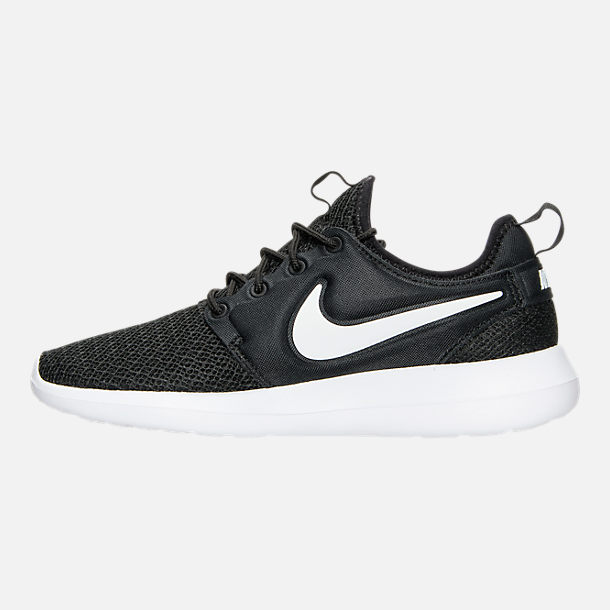 Left view of Women's Nike Roshe Two Casual Shoes in Black/White