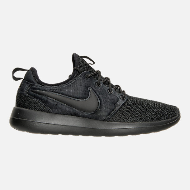 Right view of Women's Nike Roshe Two Casual Shoes in Black/Black/Black