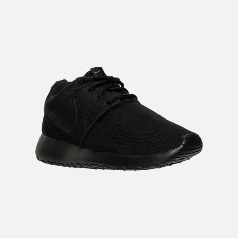 40739675aa425 Three Quarter view of Women s Nike Roshe One Casual Shoes in Black Black  Dark