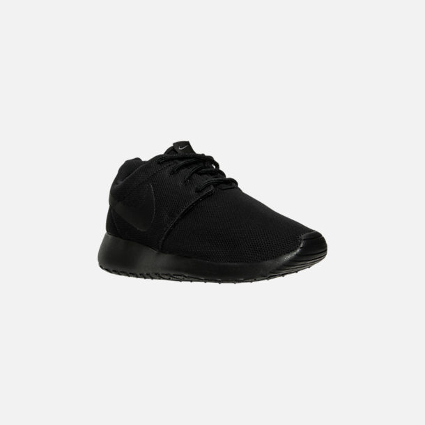 54a1a9c98898 Three Quarter view of Women s Nike Roshe One Casual Shoes in  Black Black Dark