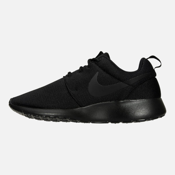 09152b162792b Left view of Women s Nike Roshe One Casual Shoes in Black Black Dark Grey