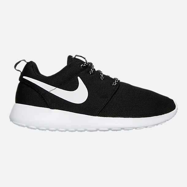 Right view of Women's Nike Roshe One Casual Shoes in Black/White/Dark Grey