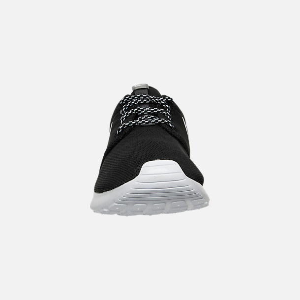 Front view of Women's Nike Roshe One Casual Shoes in Black/White/Dark Grey
