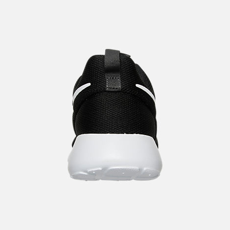 Back view of Women's Nike Roshe One Casual Shoes in Black/White/Dark Grey