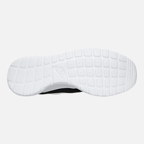 Bottom view of Women's Nike Roshe One Casual Shoes in Black/White/Dark Grey