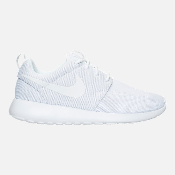 Right view of Women's Nike Roshe One Casual Shoes in White/Pure Platinum