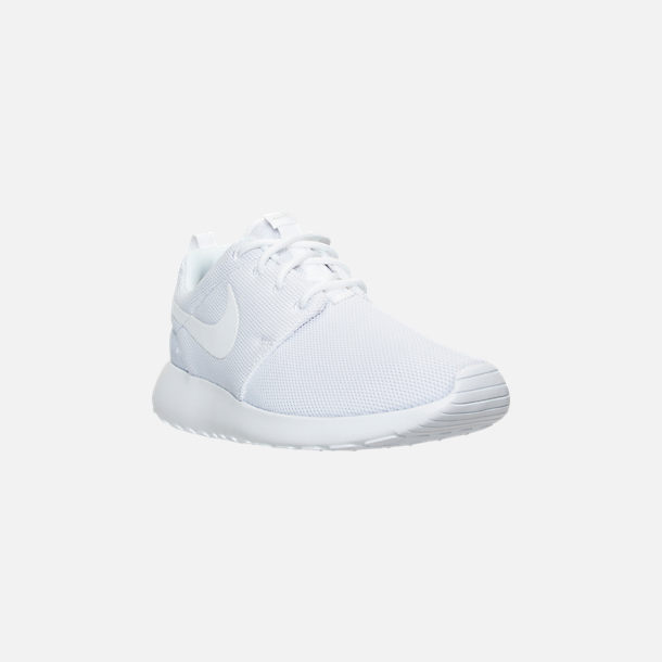 size 40 2b8de a9b5e Three Quarter view of Women s Nike Roshe One Casual Shoes in White Pure  Platinum