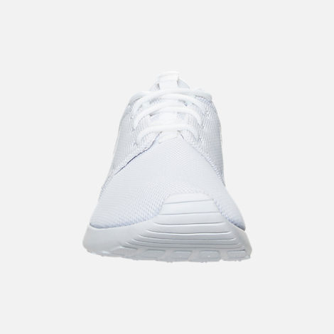 Front view of Women's Nike Roshe One Casual Shoes in White/Pure Platinum