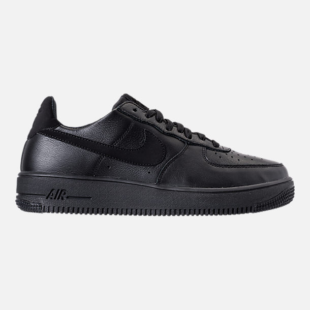 Right view of Men's Nike Air Force 1 Ultra Force Leather Casual Shoes in Black/Black/White