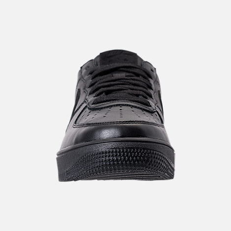 Front view of Men's Nike Air Force 1 Ultra Force Leather Casual Shoes in Black/Black/White
