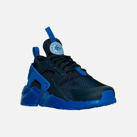 Three Quarter view of Boys' Big Kids' Nike Air Huarache Run Ultra Casual Shoes