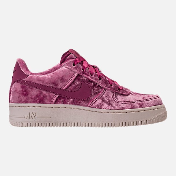 Right view of Girls' Grade School Nike Air Force 1 LV8 Casual Shoes in Tea Berry/Bordeaux/Light Orewood