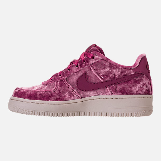 Left view of Girls' Grade School Nike Air Force 1 LV8 Casual Shoes in Tea Berry/Bordeaux/Light Orewood