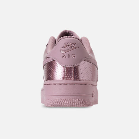 Back view of Girls' Big Kids' Nike Air Force 1 LV8 Casual Shoes in Elemental Rose/Elemental Rose
