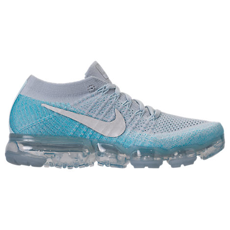WOMEN'S AIR VAPORMAX FLYKNIT RUNNING SHOES, WHITE/GREY