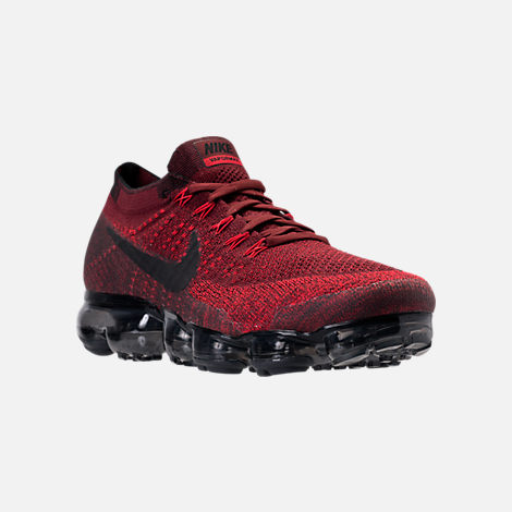 Three Quarter view of Men's Nike Air VaporMax Flyknit Running Shoes