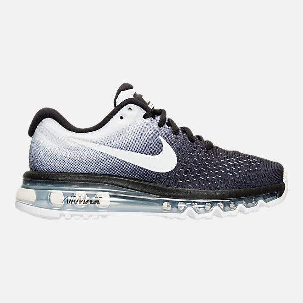 Right view of Women's Nike Air Max 2017 Running Shoes in Black/White