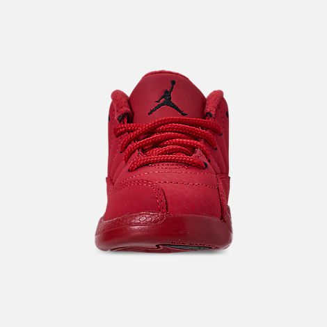 Front view of Kids  Toddler Air Jordan Retro 12 Basketball Shoes in Gym Red  0e5916c4a