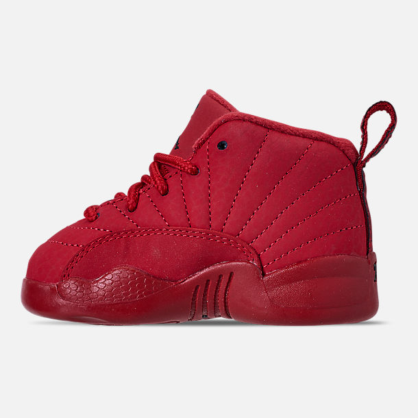 9b50aa1aed35 Left view of Kids  Toddler Air Jordan Retro 12 Basketball Shoes in Gym Red
