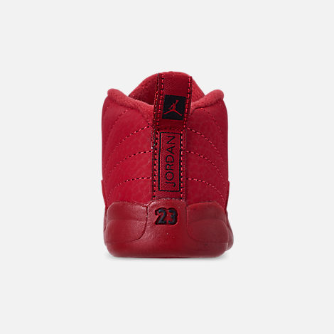 Back view of Kids  Toddler Air Jordan Retro 12 Basketball Shoes in Gym Red  a97708a34