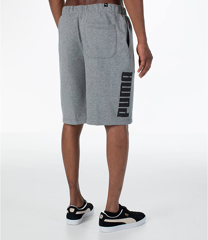 Back Right view of Men's Puma Rebel Shorts