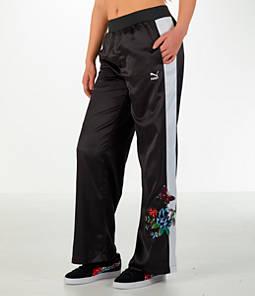 Women's Puma Premium Archive T7 Tracksuit Wide Leg Trouser Pants