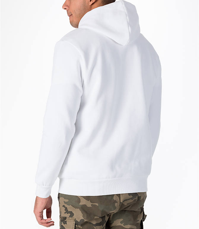 Back Left view of Men's Puma Rebel Gold Hoodie in White/Gold