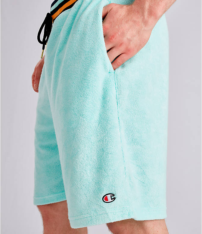 Detail 1 view of Men's Champion Life Terry Shorts in Waterfall Green