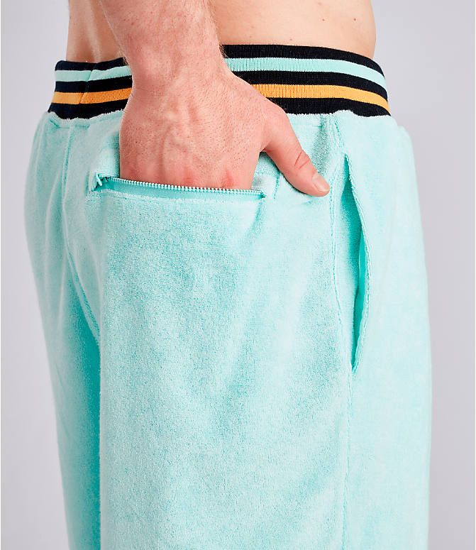 Detail 2 view of Men's Champion Life Terry Shorts in Waterfall Green