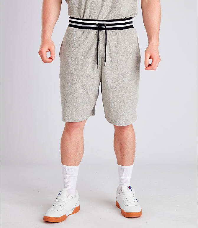 Front view of Men's Champion Life Terry Shorts in Oxford Grey