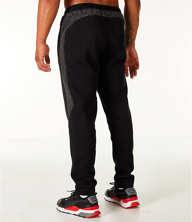 Back Left view of Men's Puma Evostripe Training Pants in Black/White